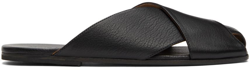 Marsèll Black Spatola Sandals