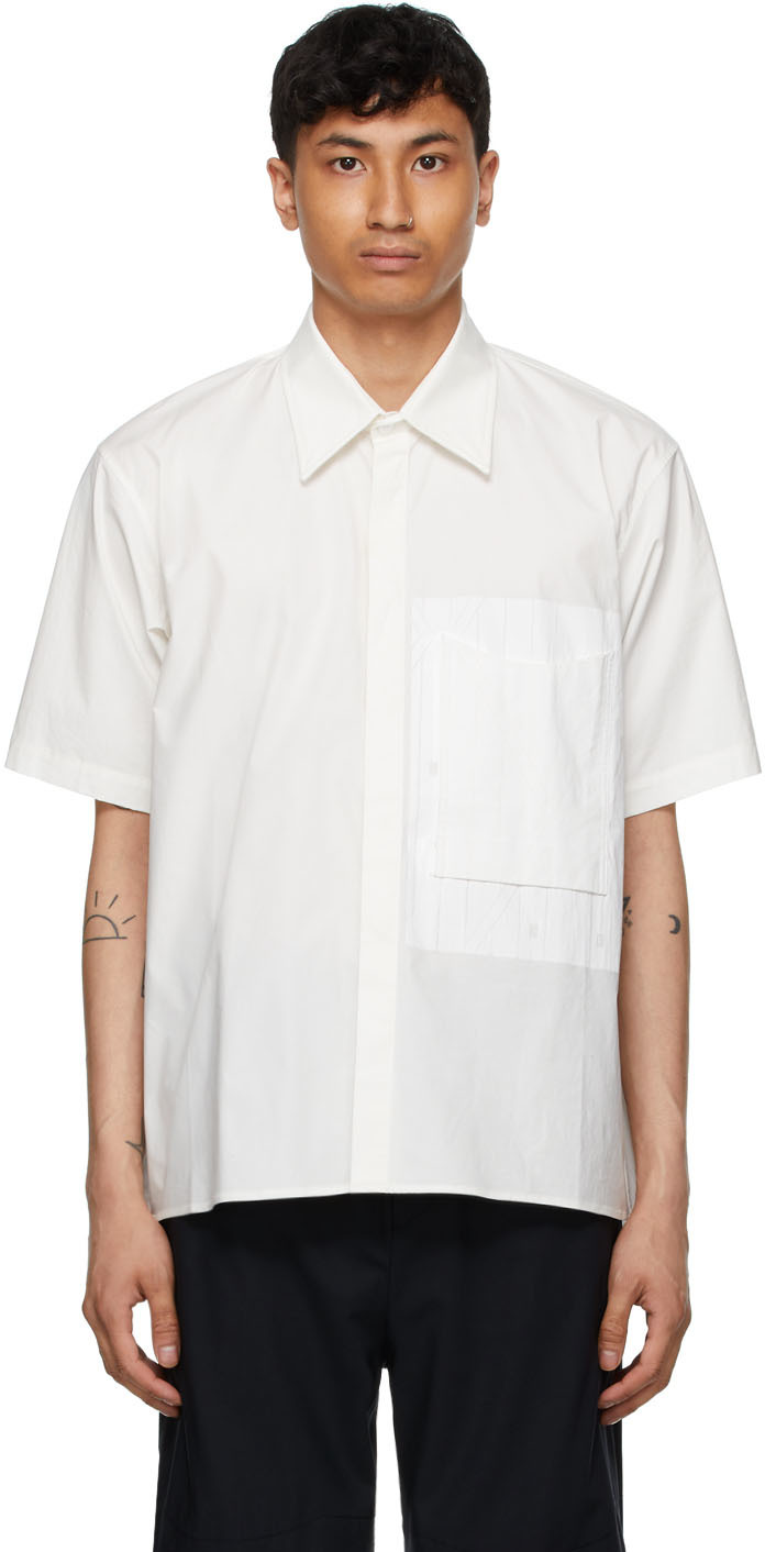White Pocket Detail Shirt