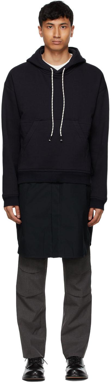 Navy Shirt Hoodie