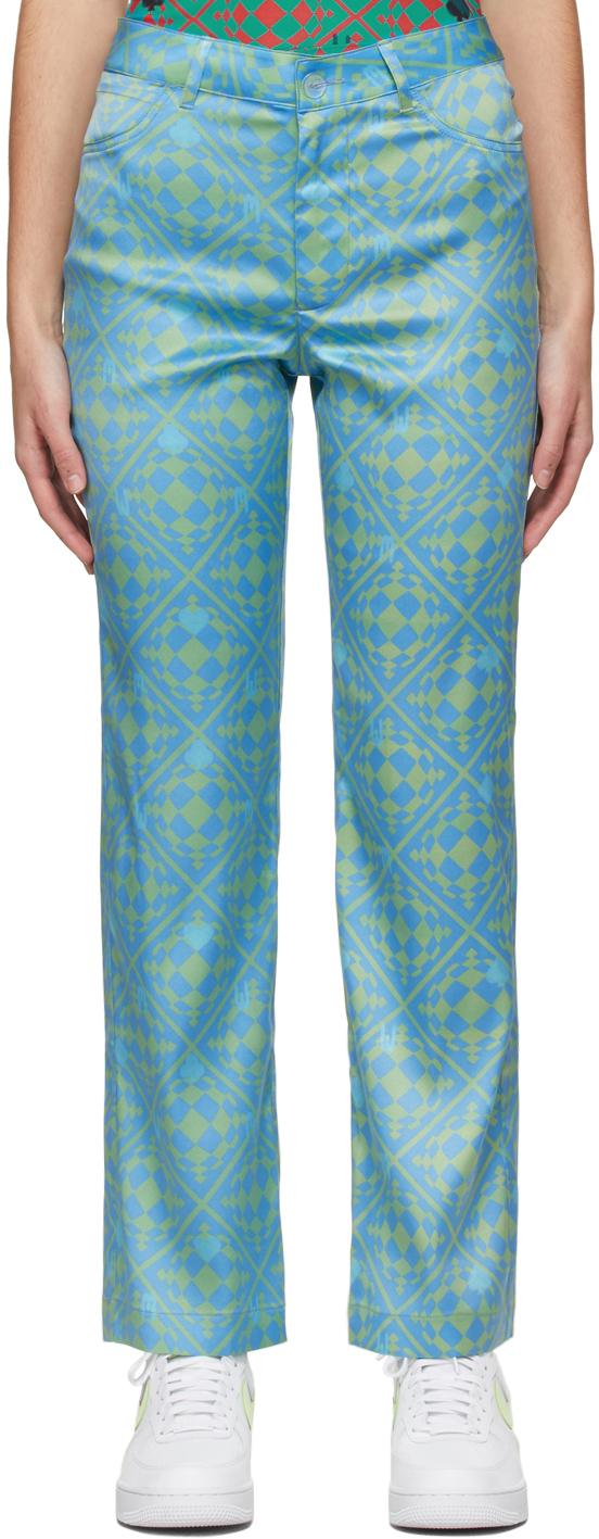 Blue & Green Nebula Trousers