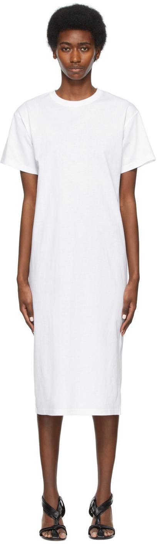 SSENSE Exclusive White Cotton T-Shirt Dress