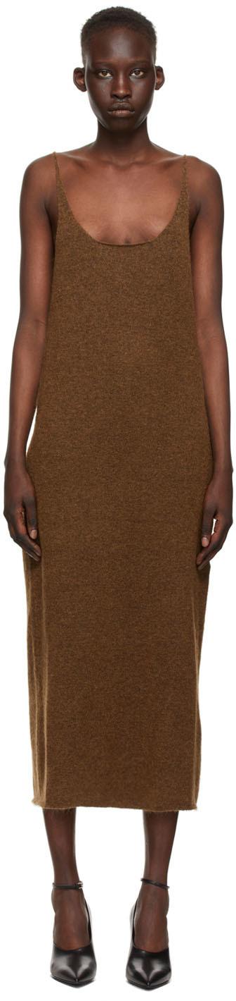 SSENSE Exclusive Brown Knit Dress