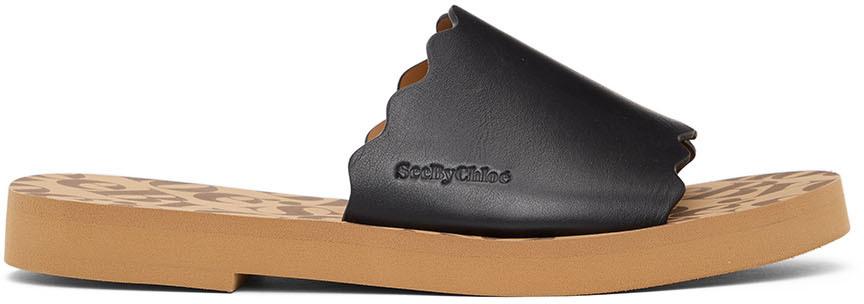 See by Chlo� Black Essie Sandals