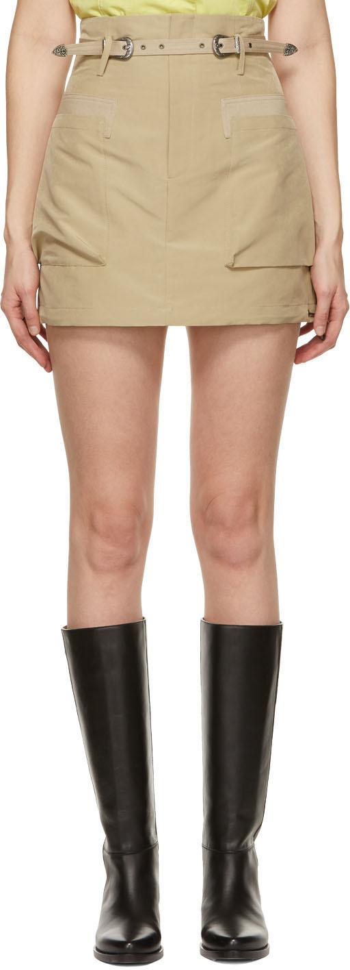 Khaki Mika Miniskirt