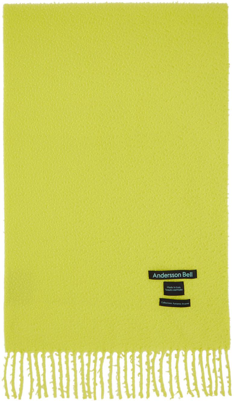 SSENSE Exclusive Yellow Biella Scarf