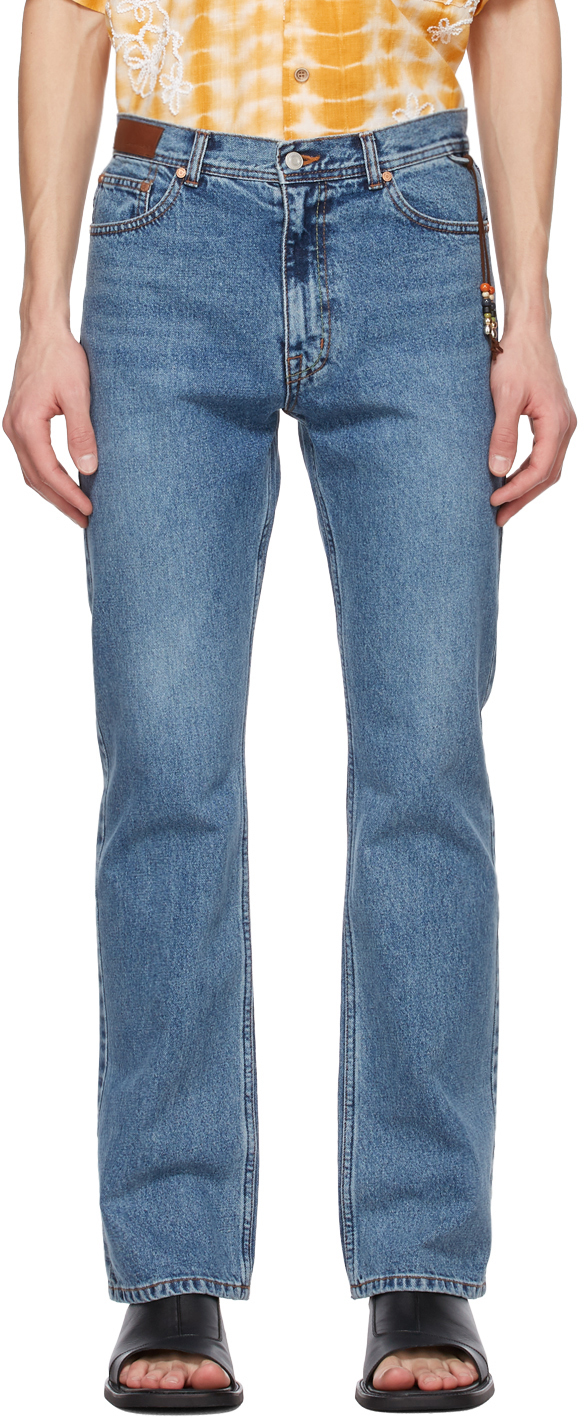 Blue Straight New America Jeans