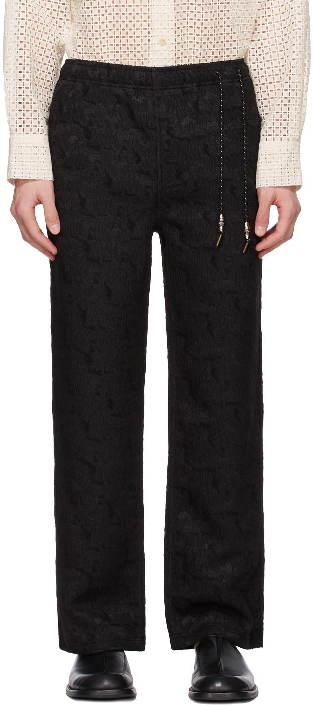 Black Jacquard Lounge Pants