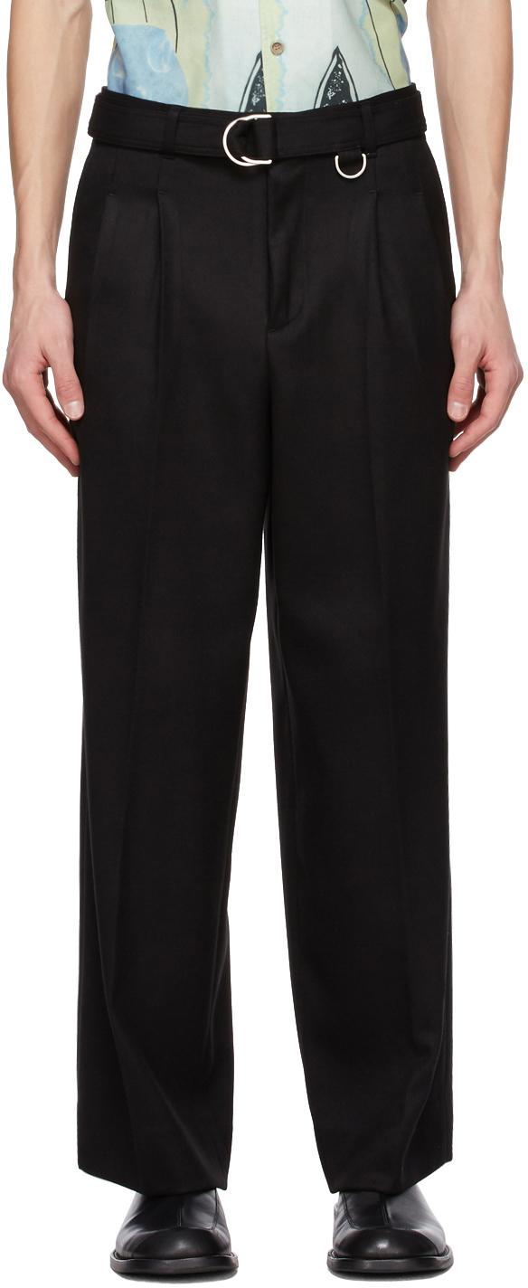 Black Matthew Belted Trousers