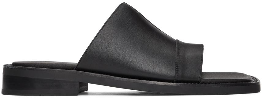 Black Leather Dresden Sandals