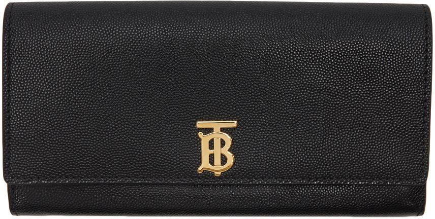 Black TB Monogram Halton Continental Wallet