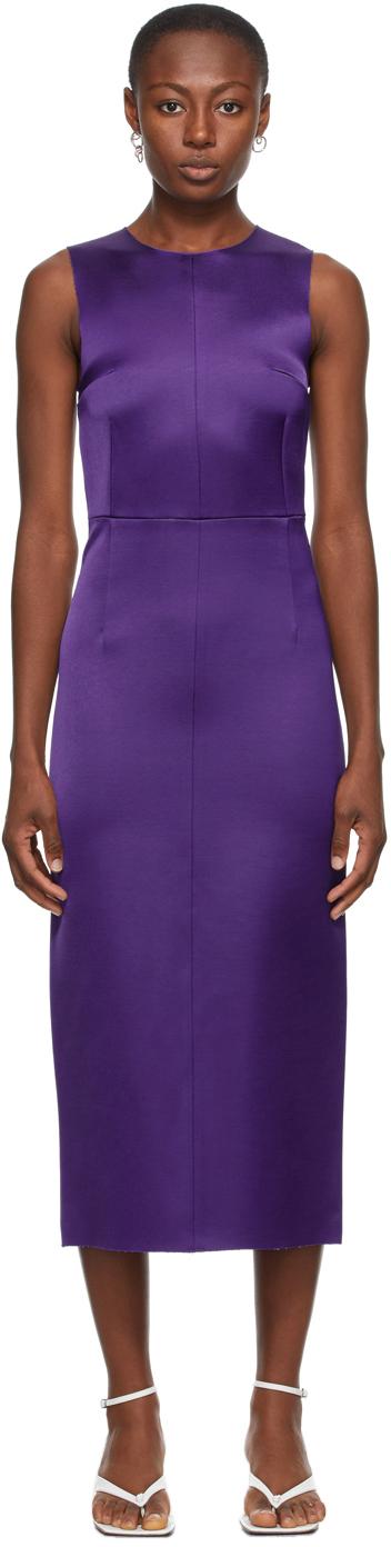 SSENSE Exclusive Purple Satin Dress