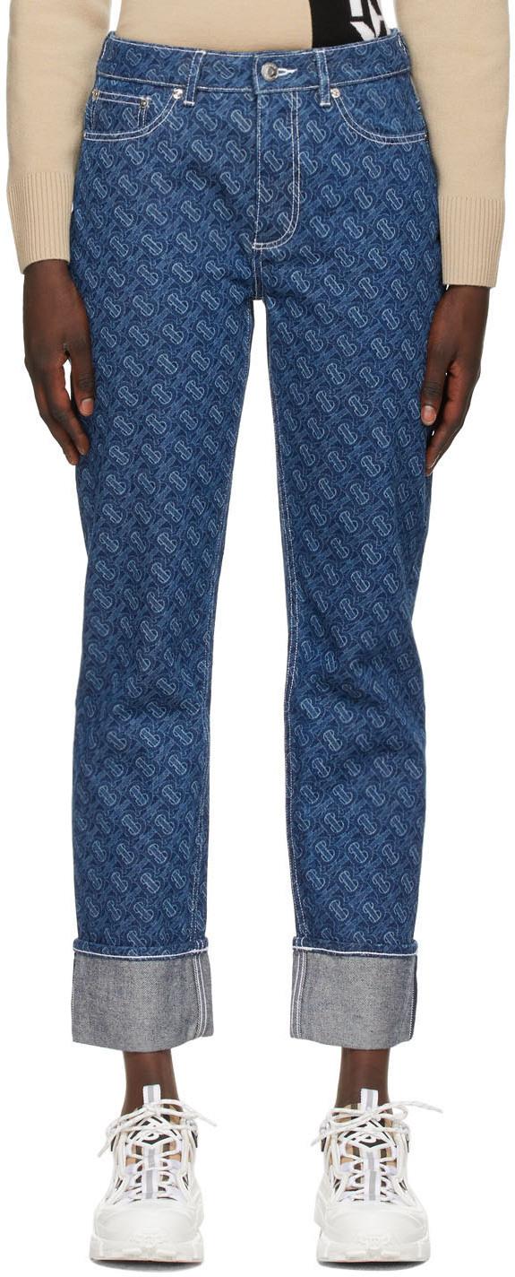Blue TB Print Jeans