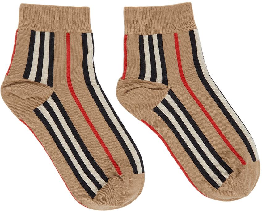 Beige Intarsia Ankle Socks