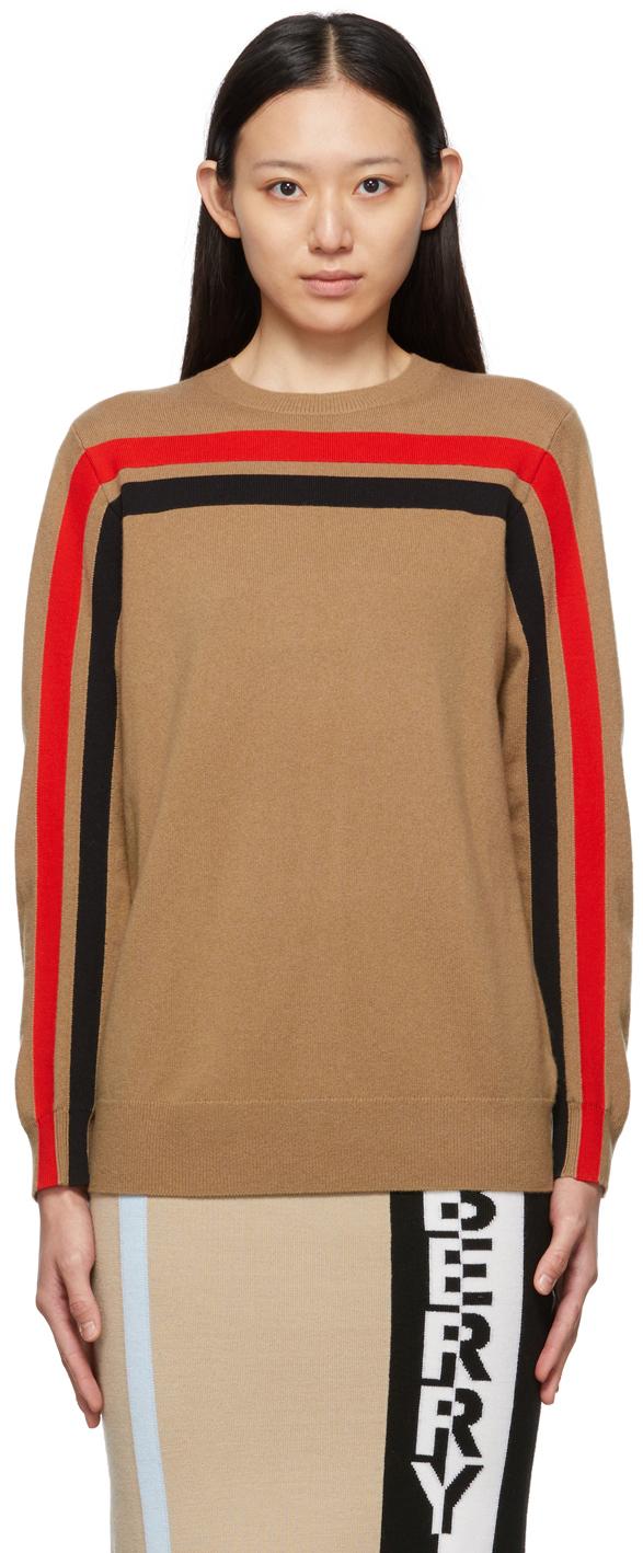 Beige Cashmere Steffy Crewneck Sweater