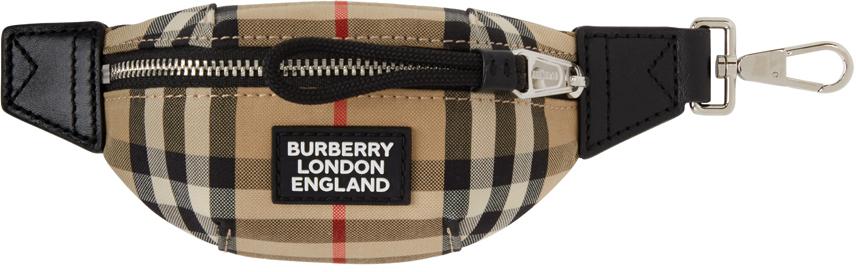 Burberry 驼色 Sonny Bum Bag 钥匙扣