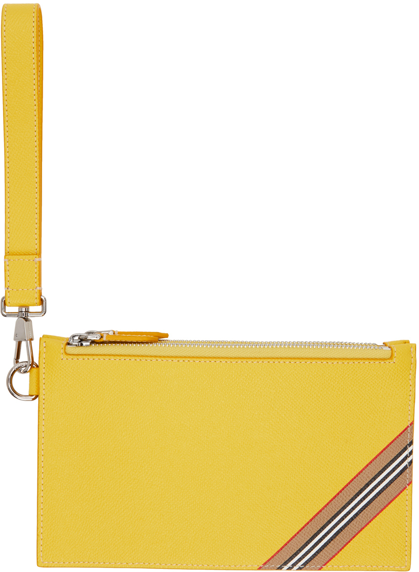 Yellow Icon Stripe Laurie Zip Pouch
