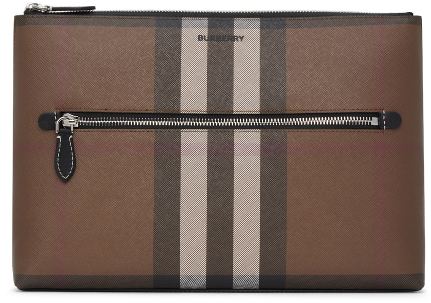 Brown Check Duncan Pouch