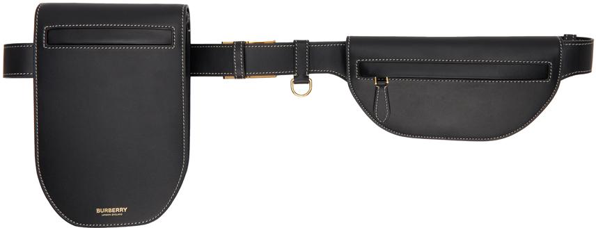 Black Leather Olympia Belt Bag