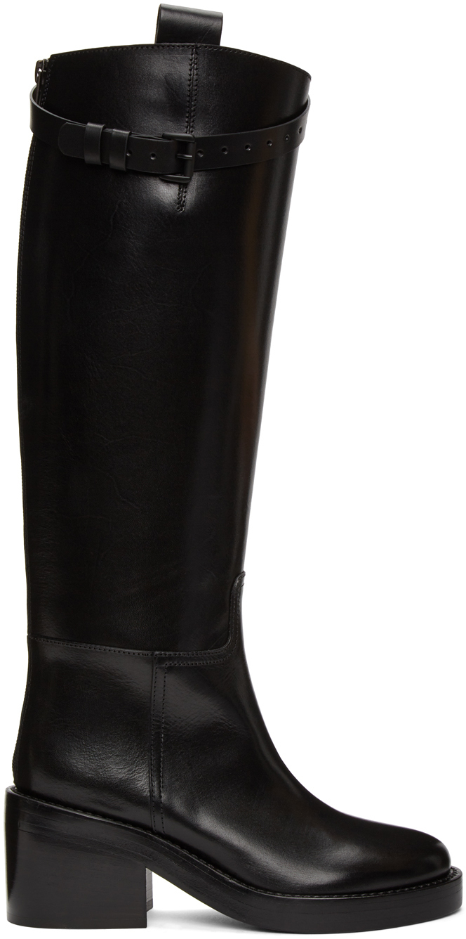 Black Heeled Riding Boots