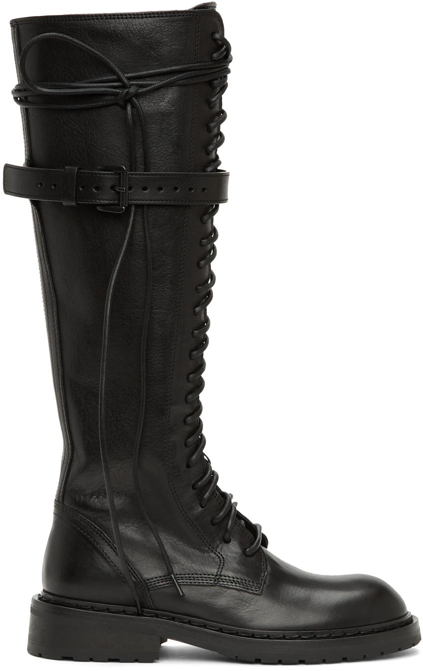 Black High Combat Boots