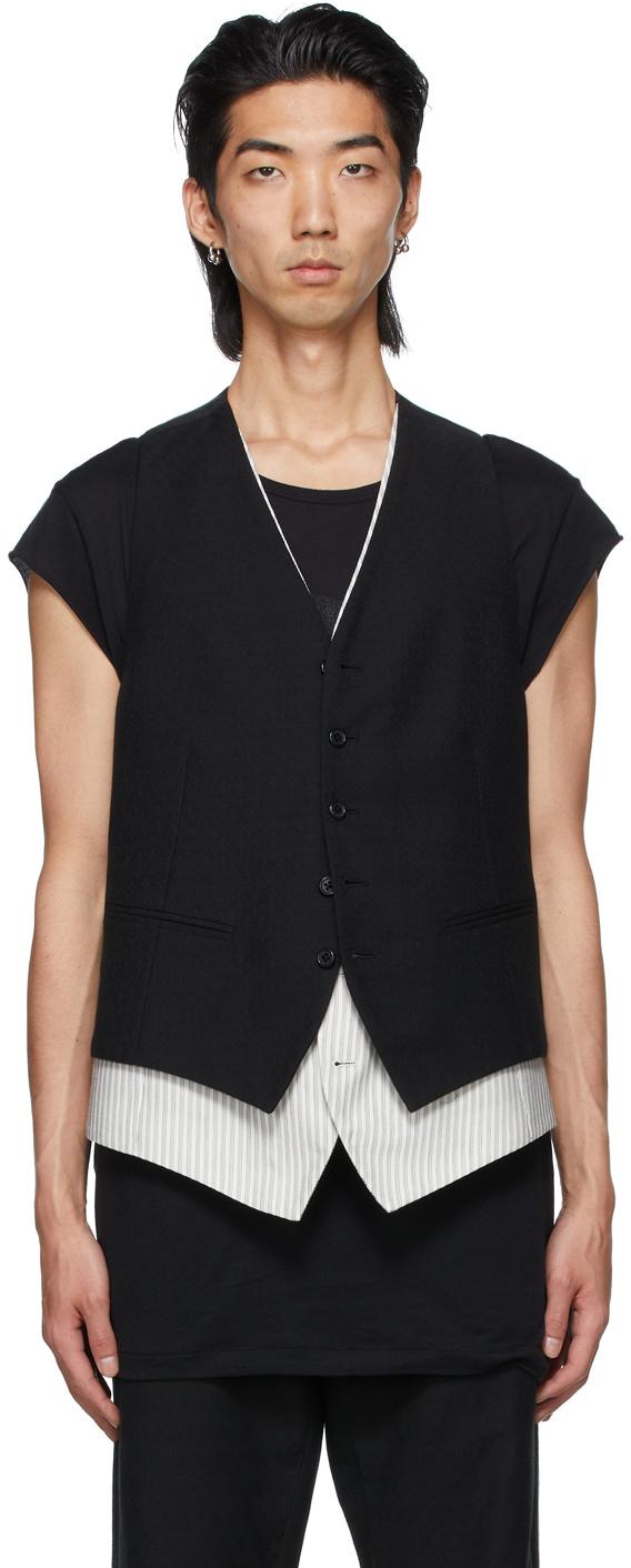 Black Layered Vest