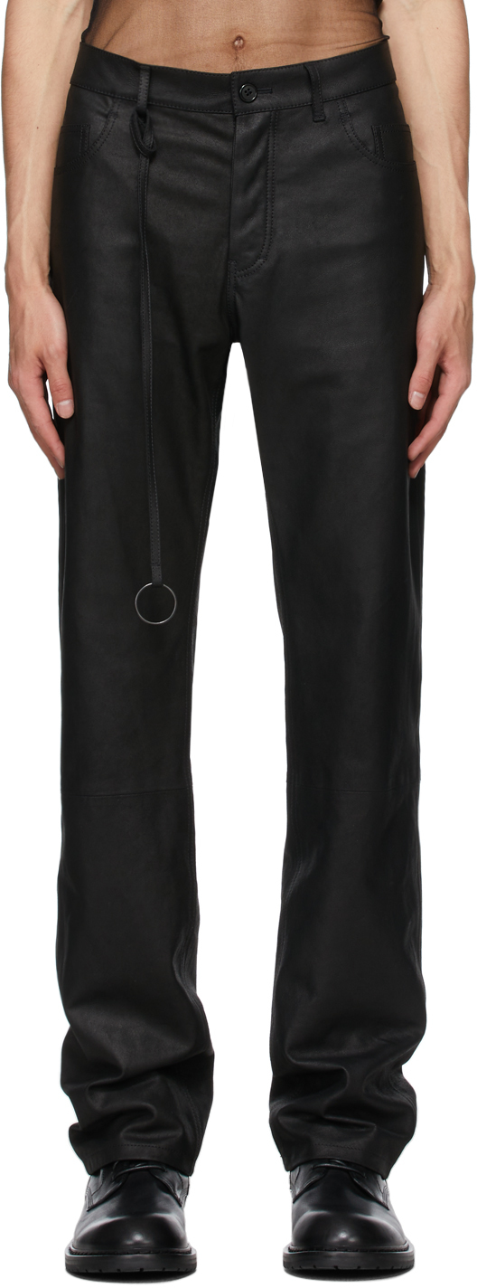 Black Leather Angelina Trousers