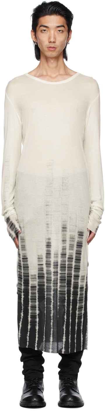 Off-White Cashmere Tie-Dye Long Sleeve T-Shirt
