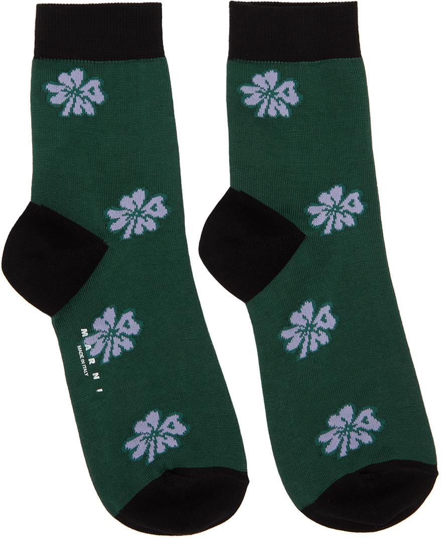 Green & Black Clover Socks