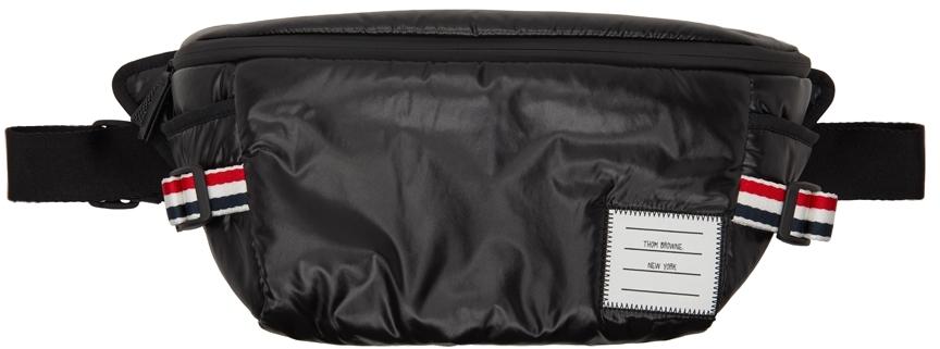 Black Ripstop Oversized Belt Bag