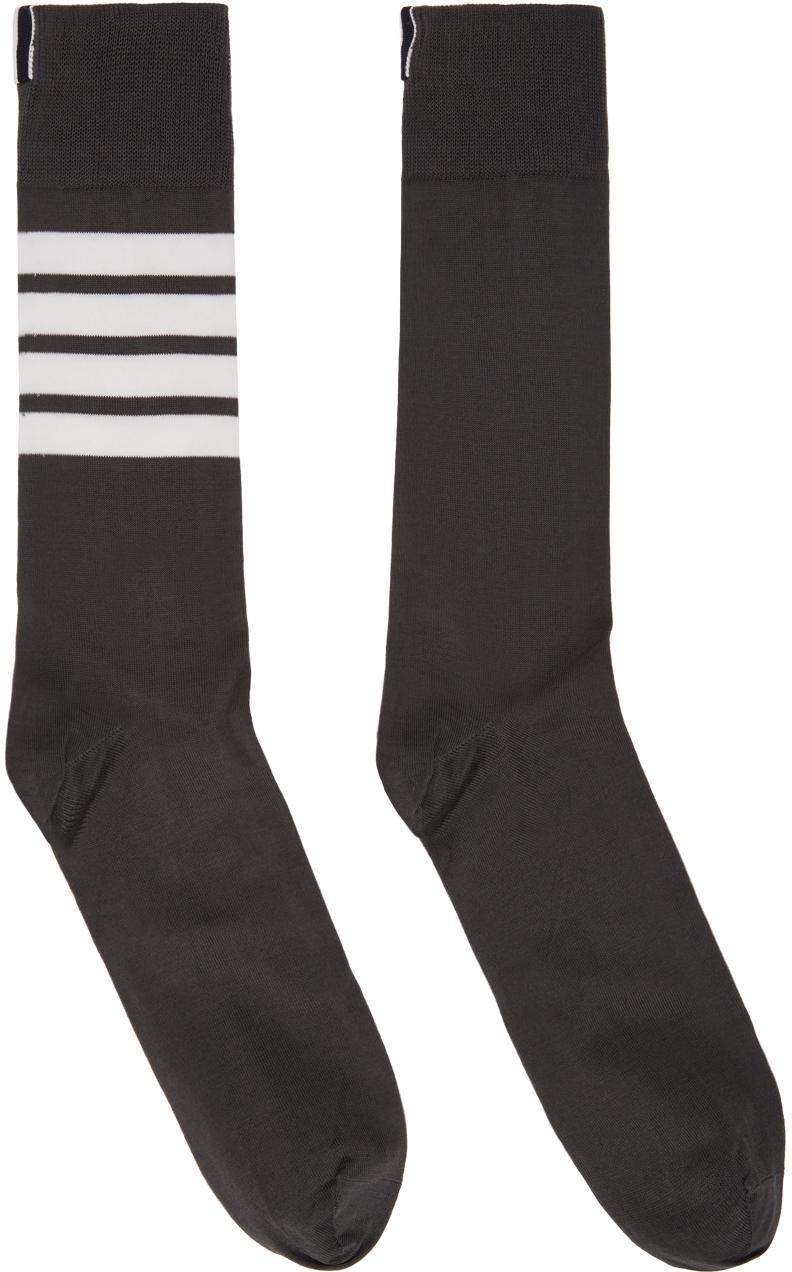 Grey 4-Bar Socks