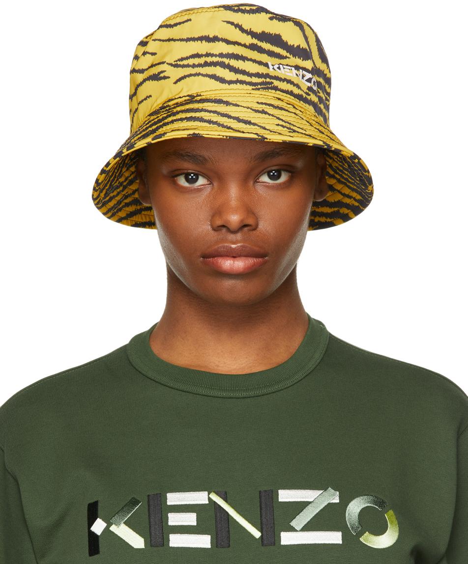 Kenzo 黄色 Tiger 渔夫帽