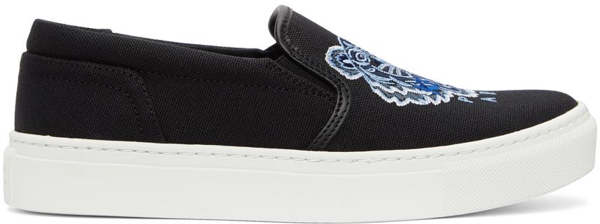 Black Tiger K-Skate Slip-On Sneakers