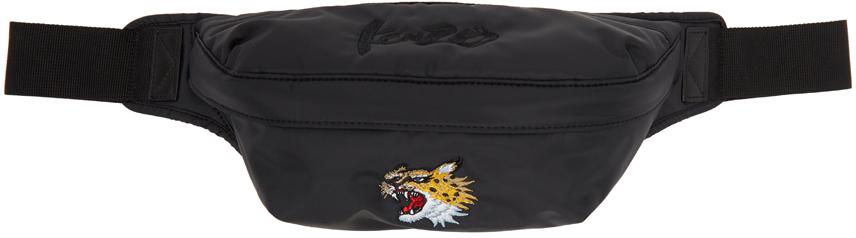 Black Kansai Yamamoto Edition Tiger Crest Belt Bag