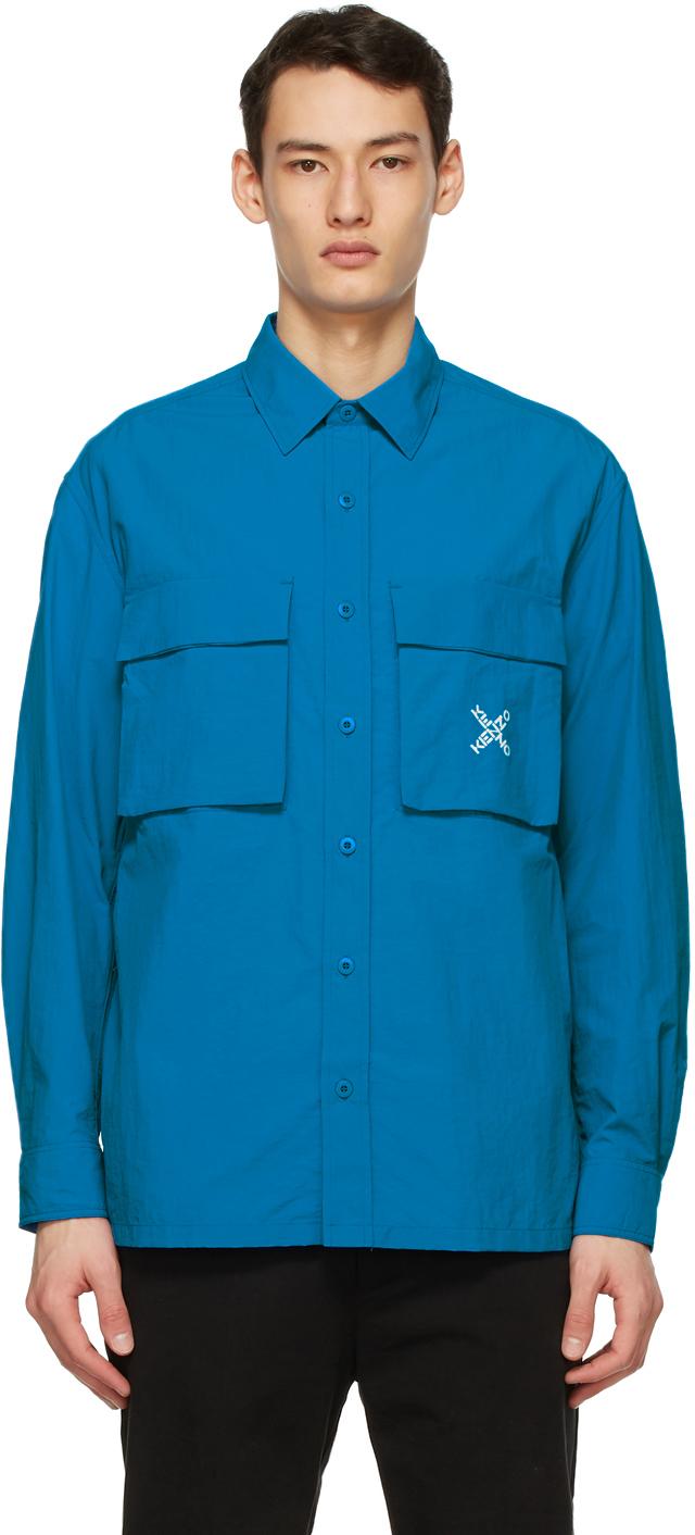 Blue Sport 'Little X' Over Shirt