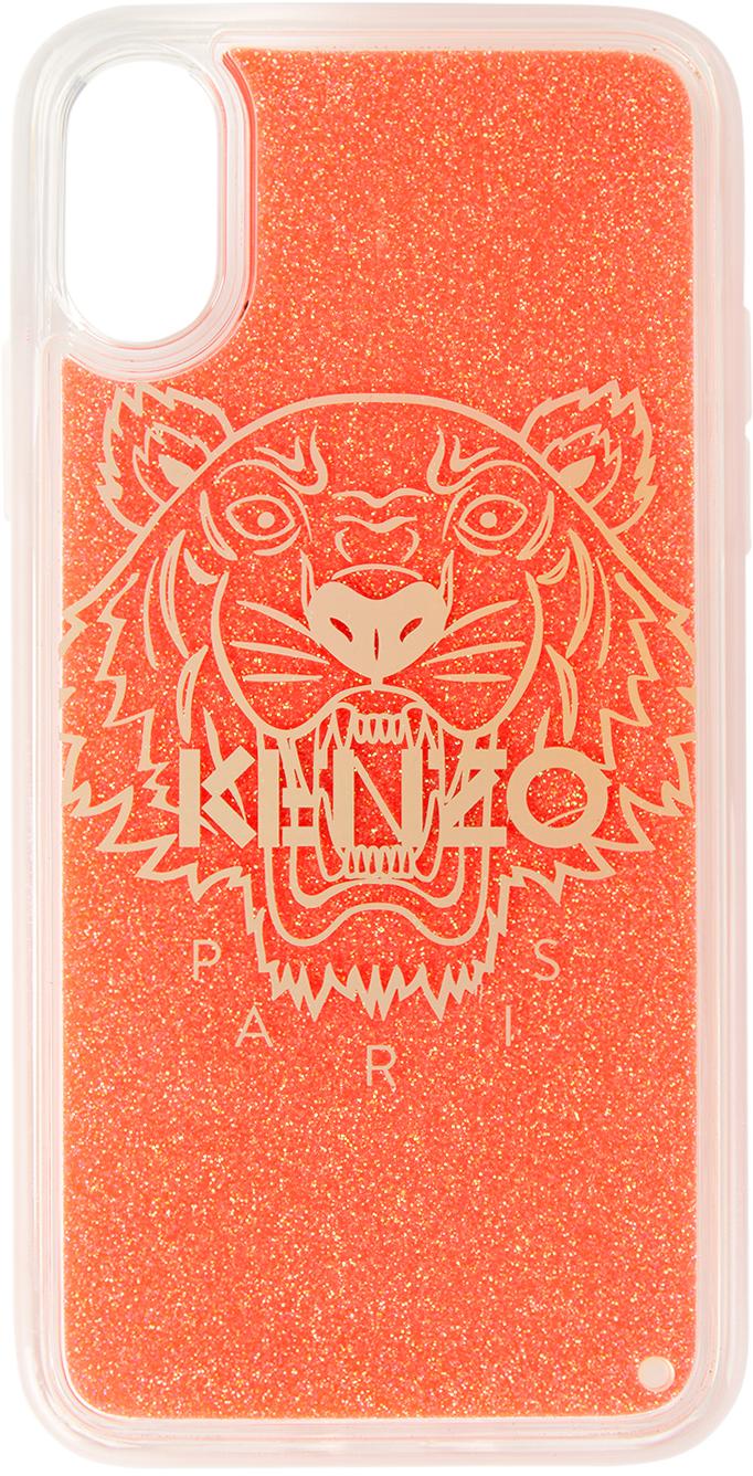 Red Glitter Tiger iPhone X/XS Case