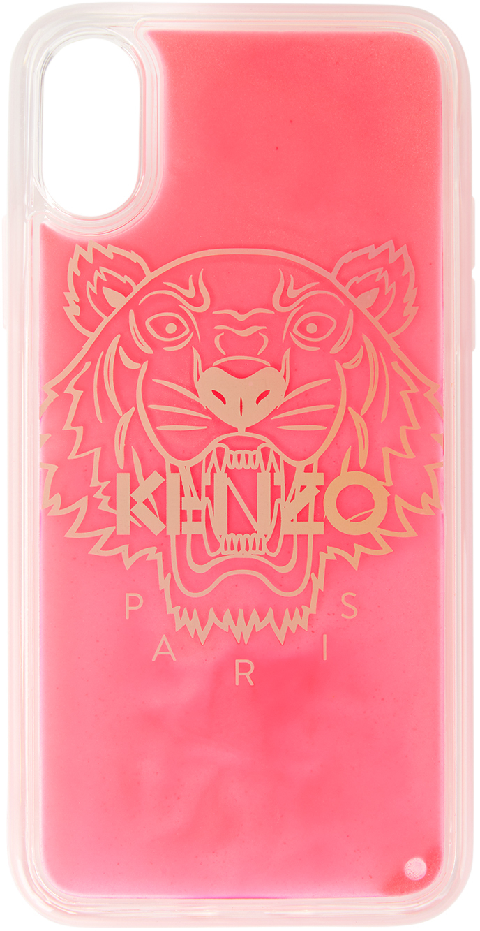 Red Glitter Tiger iPhone XS Max Case