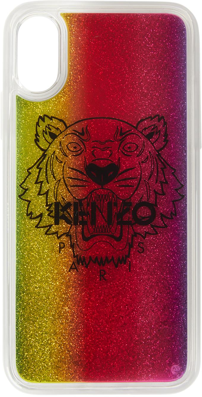 Multicolor Glitter Tiger iPhone X/XS Case