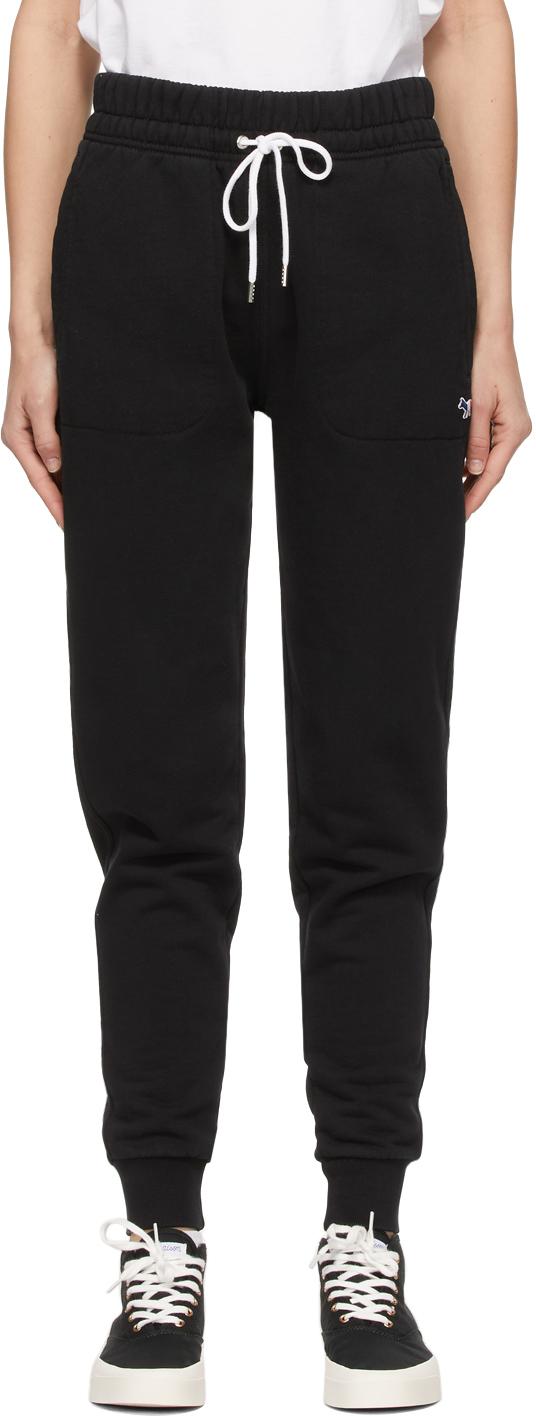 Maison Kitsuné Black Tricolor Fox Patch Classic Lounge Pants