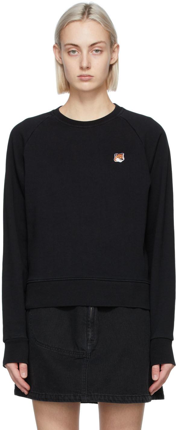 Maison Kitsuné Black Fox Head Sweatshirt