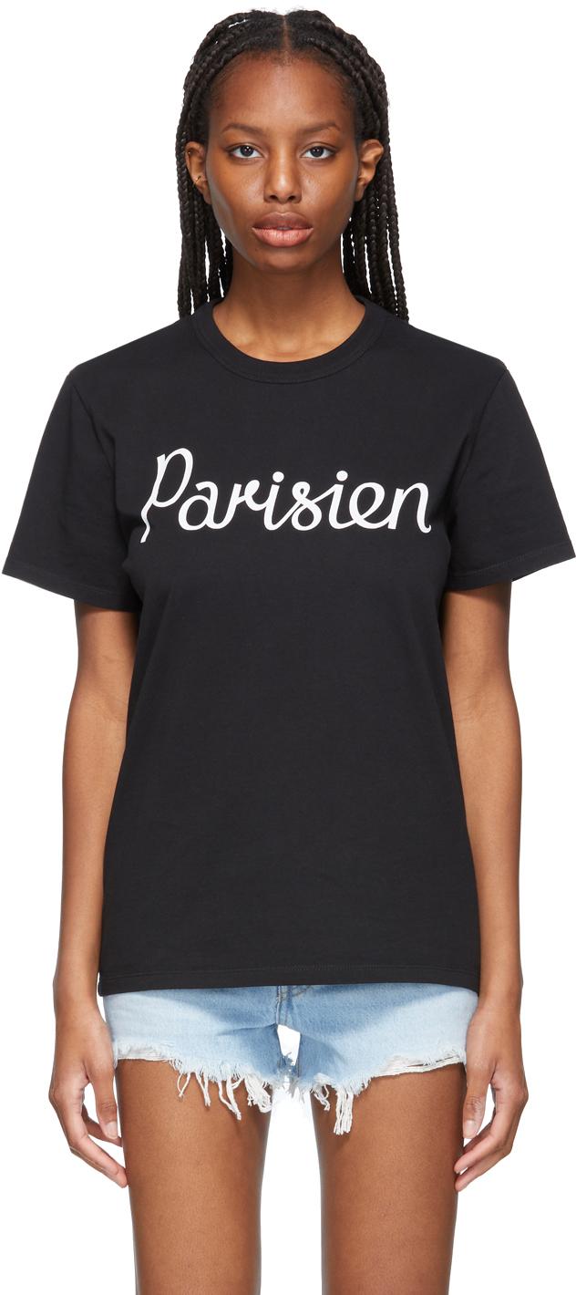 Maison Kitsuné Black Classic 'Parisien' T-Shirt