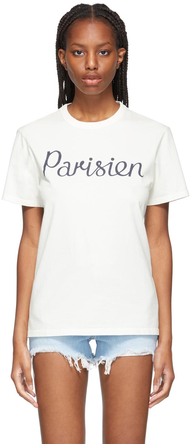 Maison Kitsuné Off-White Classic 'Parisien' T-Shirt
