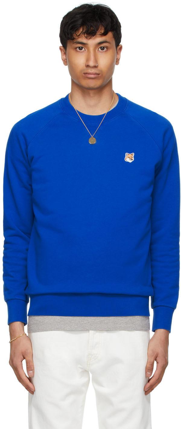 Maison Kitsuné Blue Fox Head Patch Classic Sweatshirt