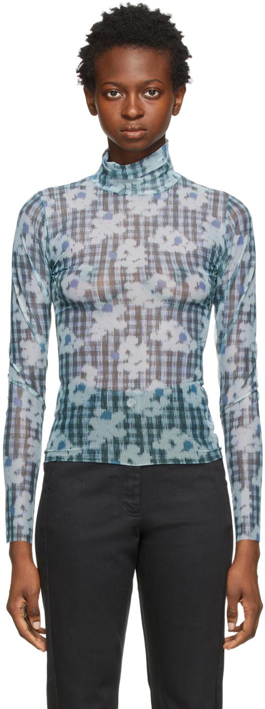 Blue Mesh Pollen Long Sleeve T-Shirt