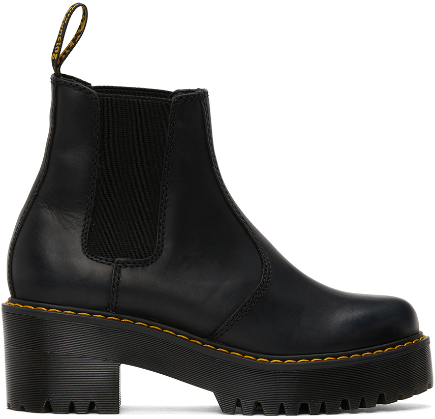 Dr. Martens 黑色 Rometty 踝靴