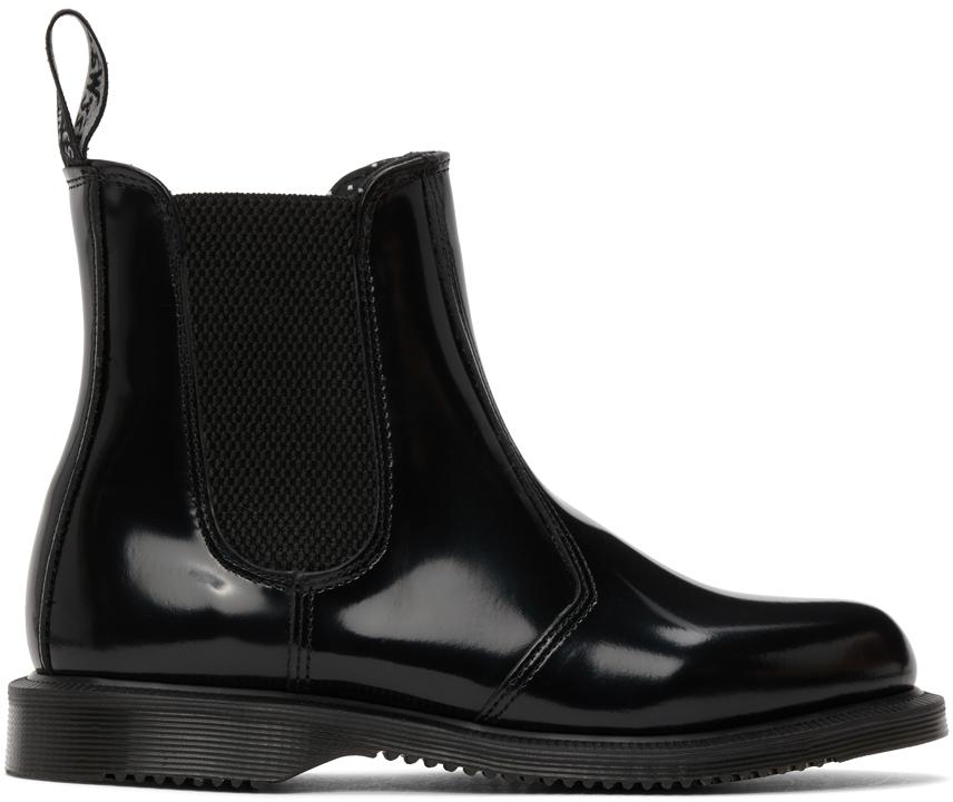 Dr. Martens 黑色 Flora 切尔西靴