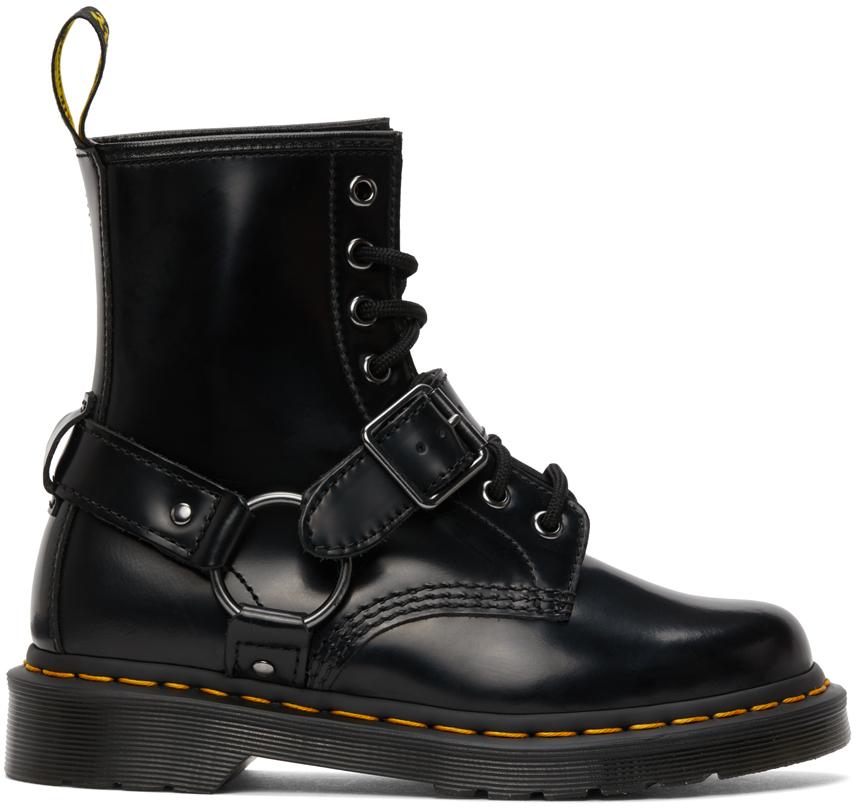 Dr. Martens 黑色 1460 Harness 踝靴