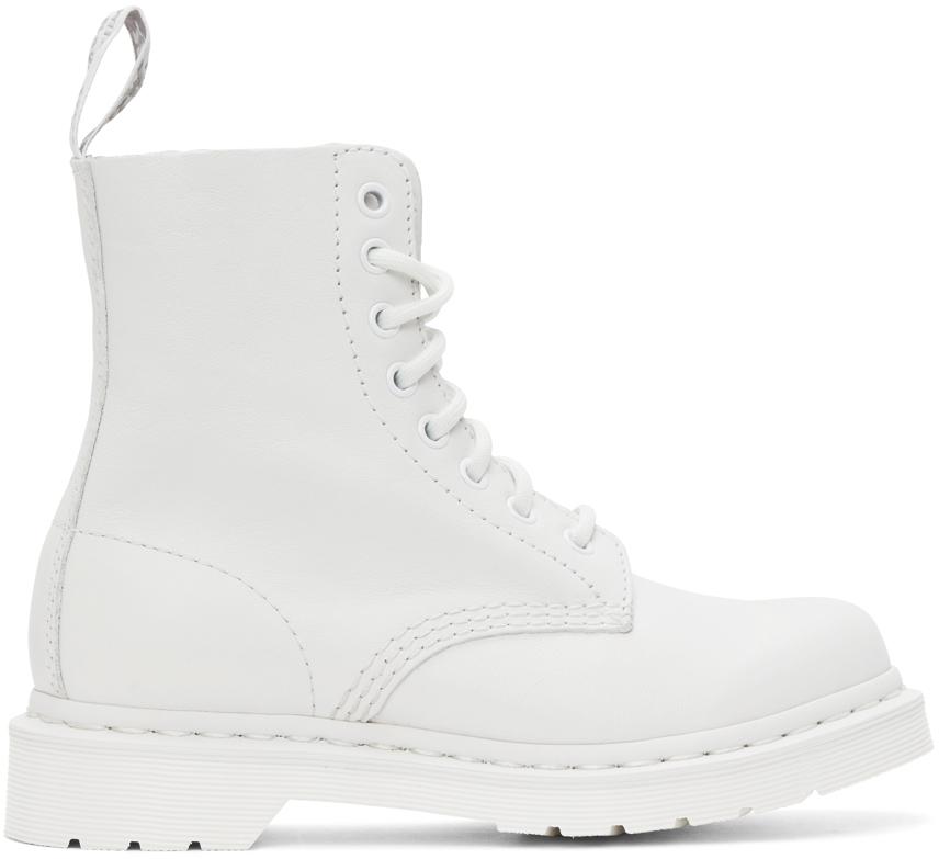 Dr. Martens 白色 1460 Pascal Mono 踝靴