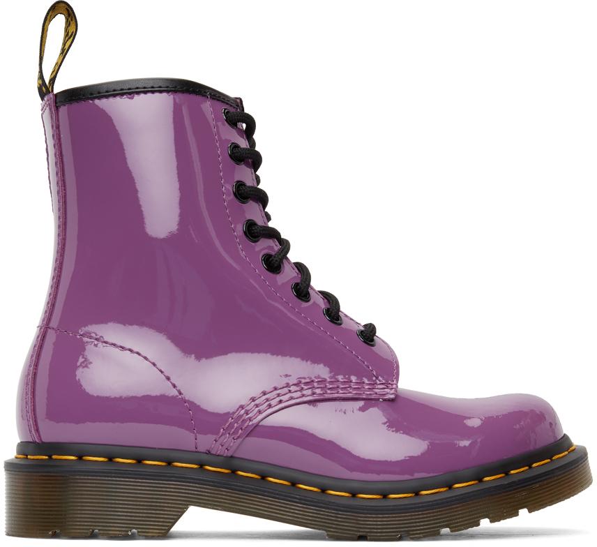 Dr. Martens 紫色 1460 踝靴