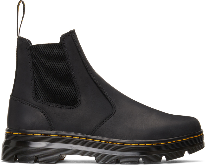 Dr. Martens 黑色 2976 Tract 切尔西靴