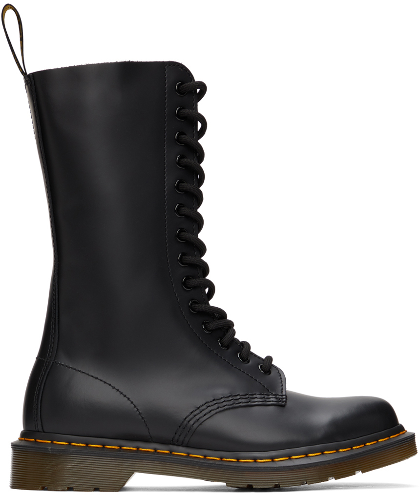 Black Smooth 1914 Boots
